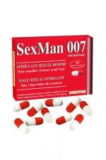 Aphrodisiaque SexMan 007 - 10 gélules - 10 Gélules aphrodisiaques pour hommes, pour booster la virilité et les performances sexuelles.