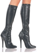 Bottes Domina - Bottes en vynile stretch mat ou brillant, talons de 15 cm.