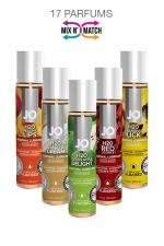 Lubrifiant Jo H2O Aromatisé - 30 ml - Lubrifiant comestible, à base d'eau, format voyage (30ml), marque System Jo. 17 parfums différents.