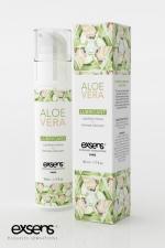 Lubrifiant Exsens à l'Aloe Vera - 50 ml - Lubrifiant intime haute qualité à base d'eau ultra-pure et enrichi d'extrait d'Aloe Vera Bio, par Exsens.