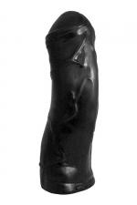 Gode XXL Enigma Black - Godemichet hors normes, dimensions 37 x 10 cm, de la collection Domestic Partner.