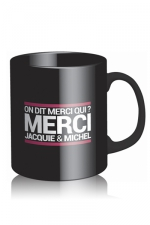 Mug Jacquie et Michel - noir - Voici le mug officiel du site Jacquie et Michel, modèle noir.