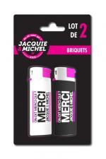 Pack 2 Briquets Jacquie & Michel - Lot de 2 briquets Jacquie & Michel sous blister.