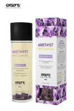 Huile massage BIO Amande douce - Exsens - huile de massage relaxante certifiée Bio à l'améthyste et à l'huile d'amande douce, par Exsens.