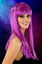 Perruque cheveux longs Violet - Perruque fantaisie avec cheveux longs couleur violet.