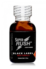 Poppers Super Rush Black Label 24 ml - Arôme liquide aphrodisiaque (en flacon de 24 ml,à base de Nitrite de Penthyl (le plus fort), pour aromatiser votre pièce.